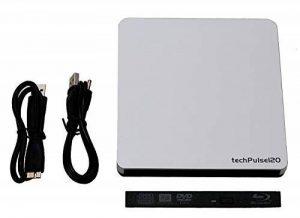 techPulse120 Boîtier de disque externe USB 3.0 Boîtier vide (Boîtier de boîtier sans lecteur) Boîtier Caddy pour disques SATA Slim de 12,7 mm - Installation facile Cliquez de la marque techPulse120 image 0 produit