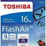 Toshiba FlashAir W-04 16Go SDHC Class 10 Carte mémoire - THN-NW04W0160E6 de la marque Toshiba image 1 produit