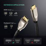 UGREEN Câble DisplayPort vers HDMI 4K 60Hz Tressé Adaptateur DP vers HDMI 1080P 144Hz Connecteus Plaqués Or pour Dell Thinkpad Carte Graphique GeForce TV Projecteur Moniteur de la marque UGREEN image 1 produit