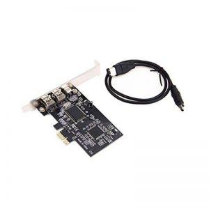 Unitedheart PCI Express PCI-E 3 Ports externes FireWire IEEE1394A Via Chip Expansion Card Câble Accessoire Carte 1394 pour PC de Bureau de la marque Unitedheart image 0 produit