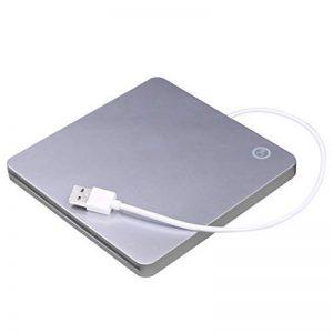 USB External Slot DVD CD RW Graveur de Lecteur Super Slim Drive Lecteur de DVD Externe Portable pour Apple pour Mac de la marque JullyeleFRgant image 0 produit