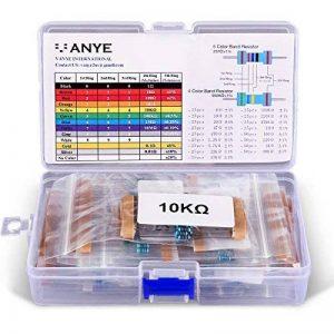 VANYE [525 Pièces] Résistances Électroniques Kit de Resistor Assortiment 17 Values de 0 Ohm-1M Ohm 1% avec Boîte en Plastique pour Arduino et Projet Expérimental de la marque VANYE image 0 produit