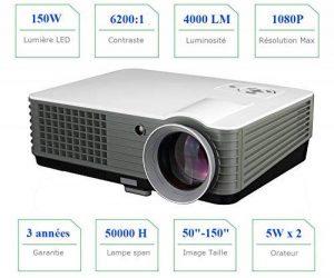 VidéoProjecteur FULL HD retroprojecteur 1080P LED vidéoProjecteur 4000 lumens vidéoprojecteur 3D video Projecteur Home cinéma pour Jeux Vidéo Film Avec Ports d'entrée HDMI USB VGA RCA soutien PC PS4 XBOX WII DVD de la marque FR BRAND image 0 produit