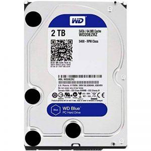 Western Digital Blue WD20EZRZ Disque Dur Interne 3,5 pouces 2 To SATA 6.0Gb/s de la marque Western Digital image 0 produit