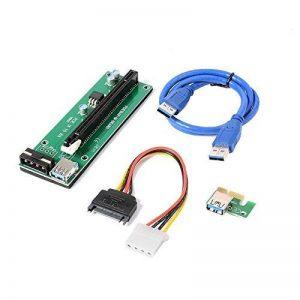 XCSOURCE Adaptateur de Carte Riser Améliorée PCI-E 1X 16X Carte d'extension avec 30cm de Câble d'alimentation USB 3.0 AC330 de la marque XCSOURCE image 0 produit