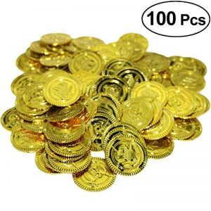 Yeahibaby 100 Pcs Pirate Party Gold Coins Pirates Gold Coins Favor de la marque Yeahibaby image 0 produit