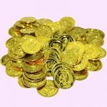 Yeahibaby 100 Pcs Pirate Party Gold Coins Pirates Gold Coins Favor de la marque Yeahibaby image 4 produit