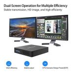 Z83-F Mini PC Desktop Processeur Intel Cherry Trail x5-z8350, RAM 4Go / eMMC 64 Go 1000M/LAN 2.4/5.8G WiFi Bluetooth 4.0, Dual Screen Display with Sorties VGA & HDMI, Fanless Intel Ordinateur de Bureau de la marque KODLIX image 1 produit