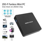 Z83-F Mini PC Desktop Processeur Intel Cherry Trail x5-z8350, RAM 4Go / eMMC 64 Go 1000M/LAN 2.4/5.8G WiFi Bluetooth 4.0, Dual Screen Display with Sorties VGA & HDMI, Fanless Intel Ordinateur de Bureau de la marque KODLIX image 3 produit